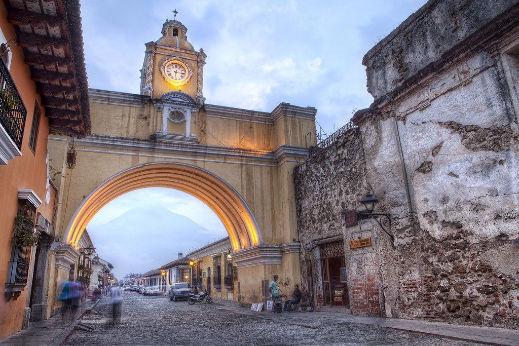 Santa Catalina Arch in the evening, Antigua Guatemala