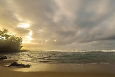 Sunset at Ke'e Beach
