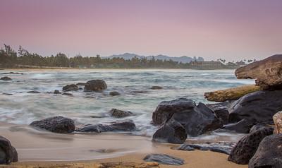 Morning Light on Wailua Beach