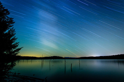 Star Trails over Little Payette Lake