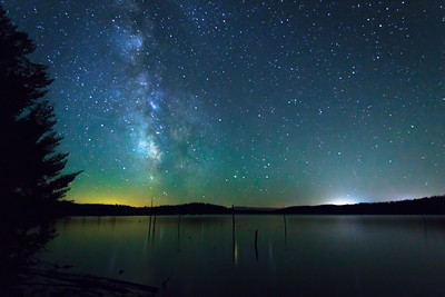 Milky Way over Little Payette Lake