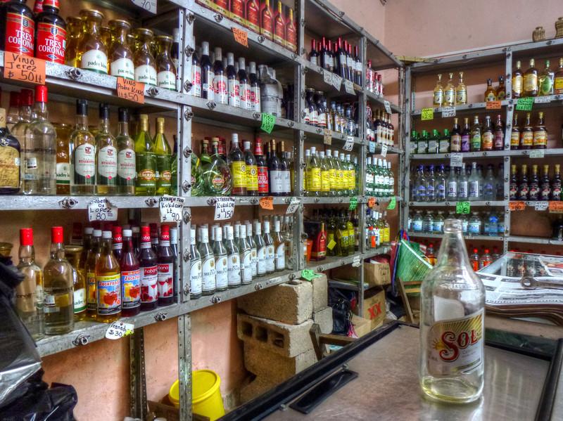 mexico booze store