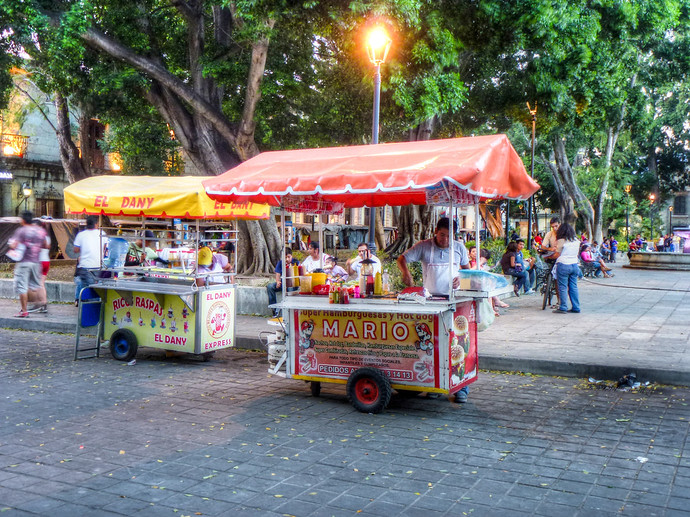 oaxaca street food cart