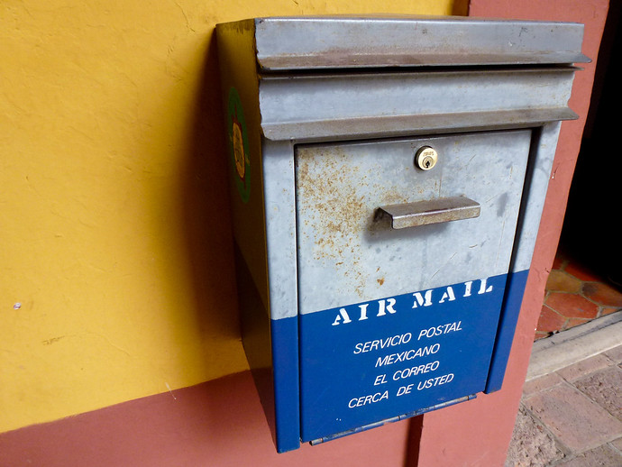 air mail box mexico