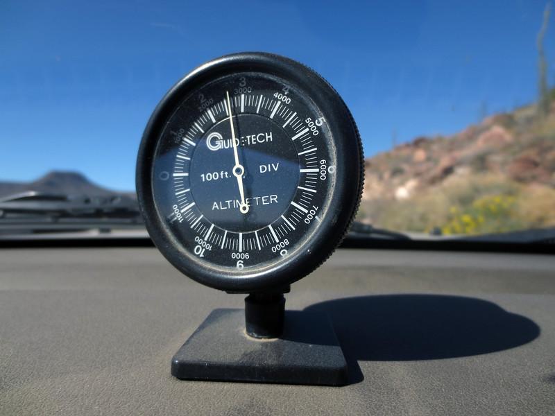 Maximum altitude, near 3000 feet<br /> 200km milepost<br /> Temp. 57F