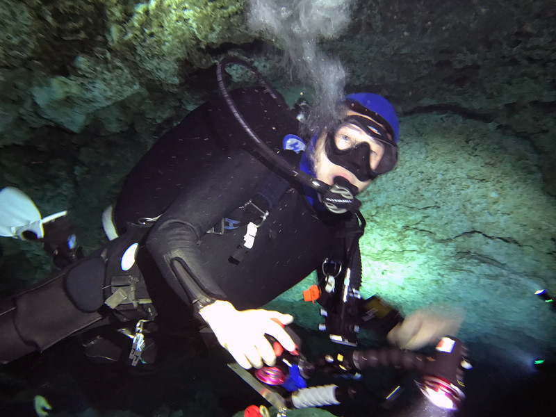 Kevin<br /> Tajma Ha Cenote<br /> Photo by Daniel Mariscal