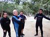 Juan Carlos giving a dive briefing for Tajma Ha Cenote