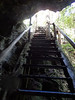 Stairs looking up from The Pit Cenote