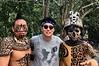 With Mayan warriors<br /> Ek Balam, Yucatan