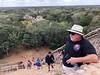 Scott nears the top of the Acropolis<br /> Ek Balam, Yucatan