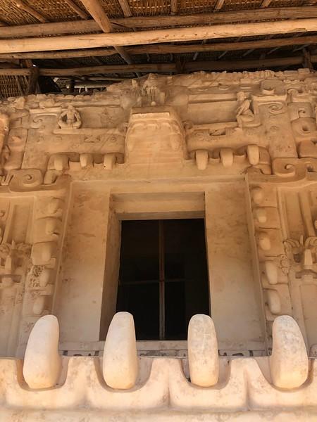 """Jaguar"" entrance to the king's tomb<br /> Ek Balam, Yucatan"
