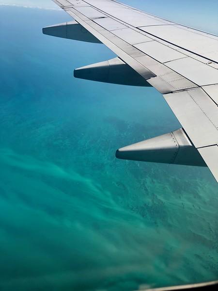 Approaching Cancun, Mexico