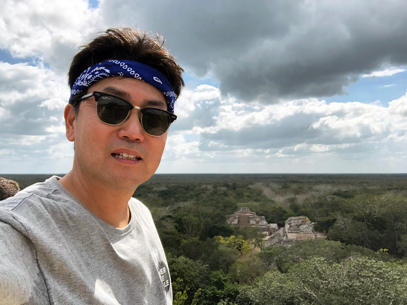 Atop the Acropolis, with view to the south<br /> Ek Balam, Yucatan
