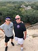 Atop the Acropolis, with view to the south.  Wind gusts were so strong, Scott's new hat blew off, un-retrievable, into the jungle below. <br /> Ek Balam, Yucatan