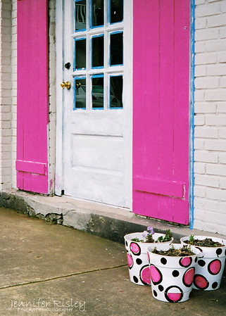 Pink Shutters: Oxford, MS