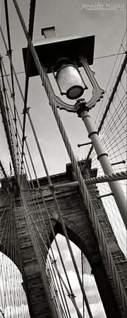 Brooklyn Bridge Detail with Lamp Post