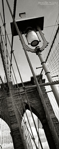 Brooklyn Bridge Detail with Lamp Post