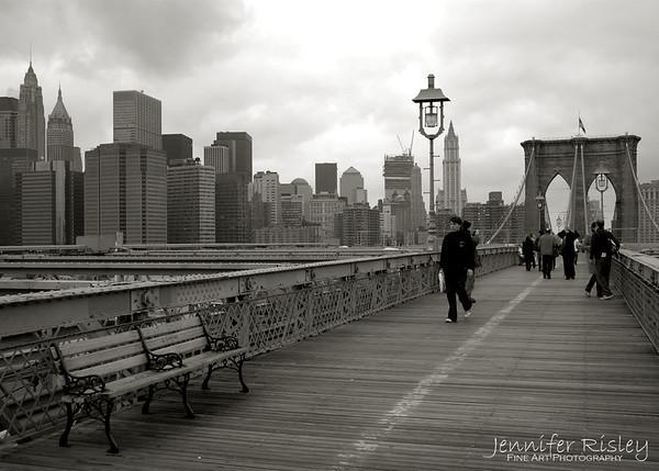 Brooklyn Bridge with Downtown Skyline