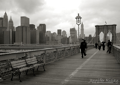 Brooklyn Bridge with Downtown Skyline