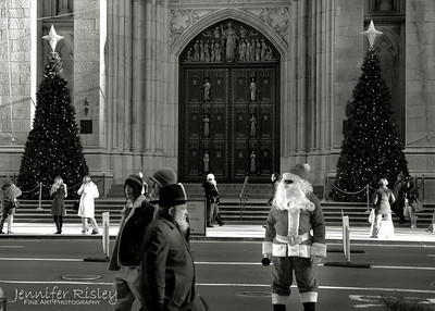 Santa at St. Patrick's Cathedral