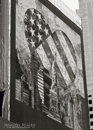 Banner at WTC Site, 2003