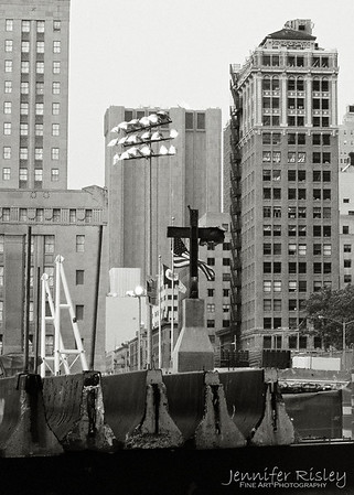 Iron Cross at WTC Site, 2003