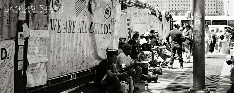 WTC Workers at Lunch, 2002