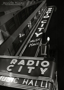 Radio City Music Hall Marquis at Night