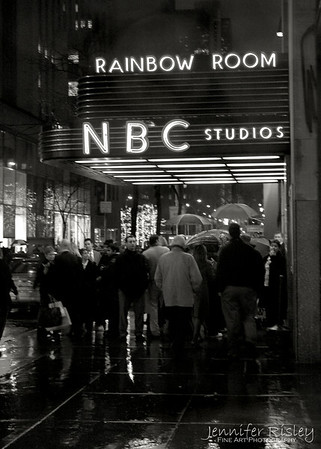 NBC Studios Marquis in the Rain