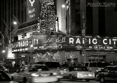 Traffic at Radio City Music Hall
