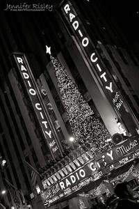 Radio City Music Hall Christmas Decorations at Night