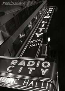 Radio City Music Hall Marquis at Night