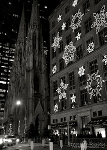 St. Patrick's Cathedral & Sak's 5th Ave. at Christmas