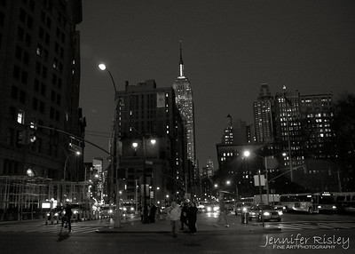 Empire State Building from Flat Iron Building at Night