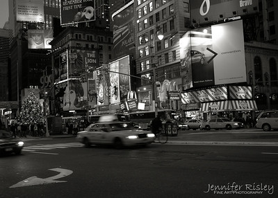 Times Square Intersection at Night