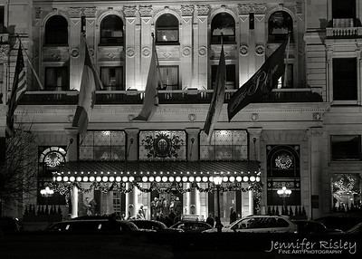 The Plaza Flags at Night