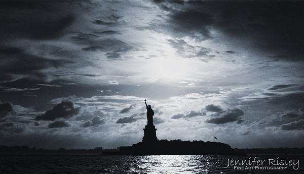 Statue of Liberty at Sunset (blue)