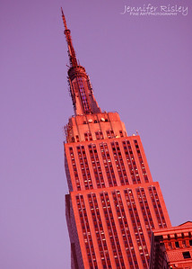 Top of Empire State Building at Dusk