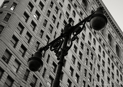 Street Light at Flat Iron Building
