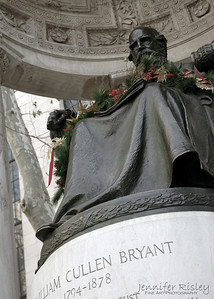 Bryant Statue at Christmas