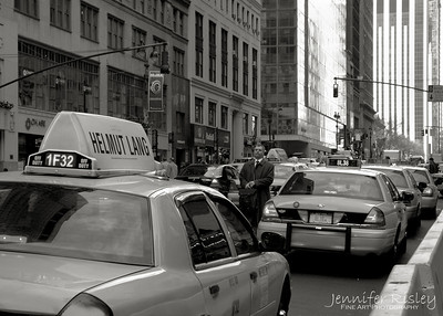 Taxis on 42nd Street