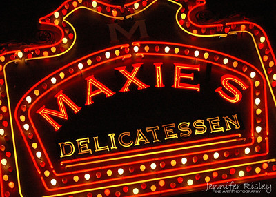 Maxie's Delicatessen Sign