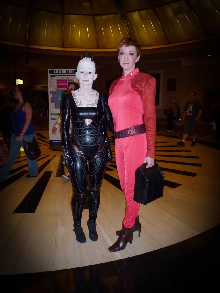 kira and borg queen star trek las vegas 2013