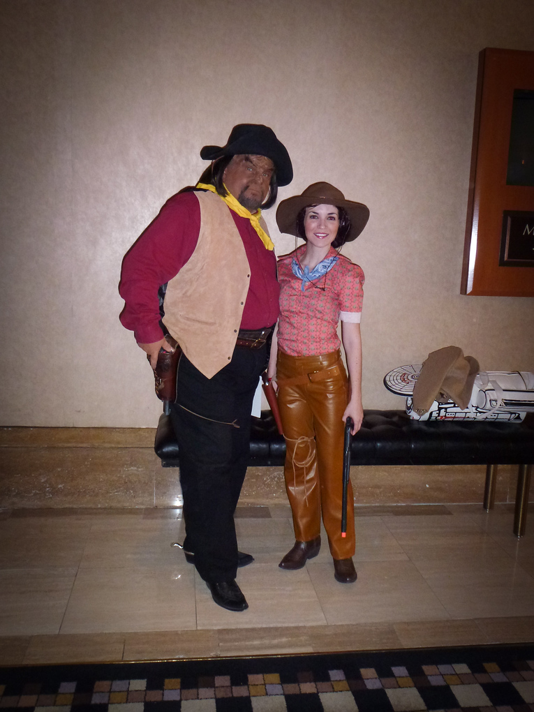 worf and troi star trek las vegas 2013