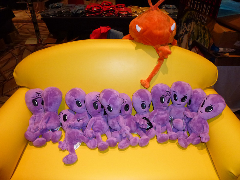 purple aliens dolls