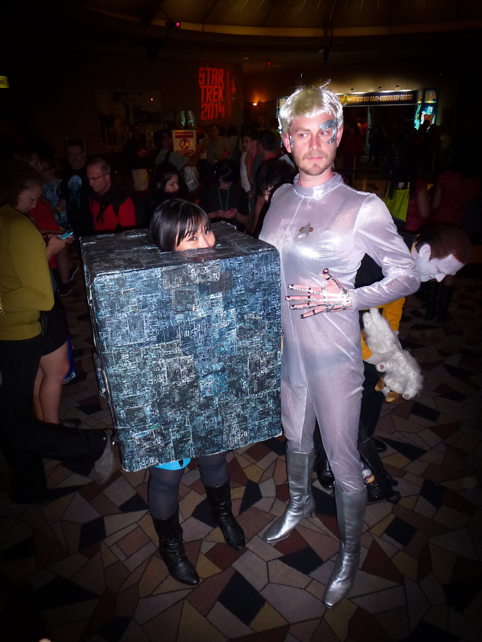 star trek las vegas 2014 borg cube seven of nine