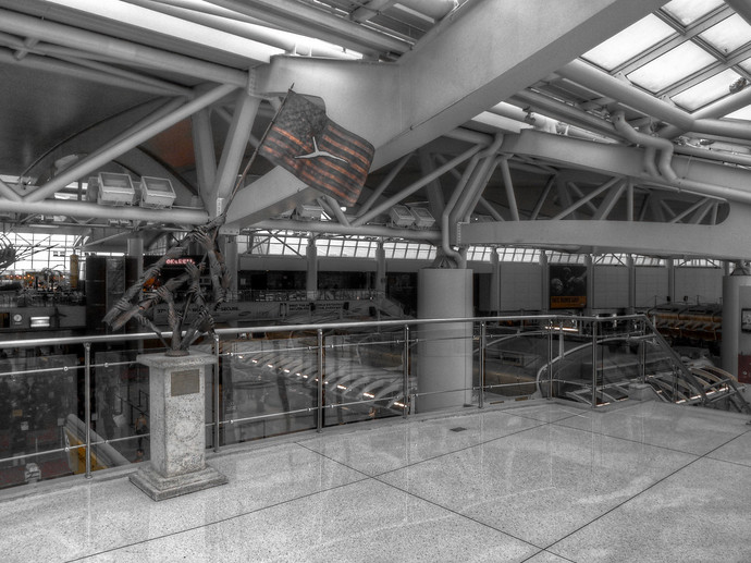 american flag jfk airport