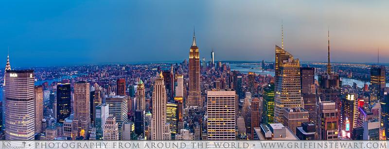 Manhattan Sunset View Panoramic
