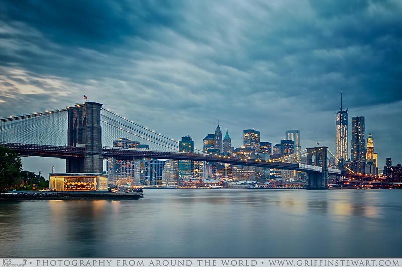 The Brooklyn Bridge Before The Storm