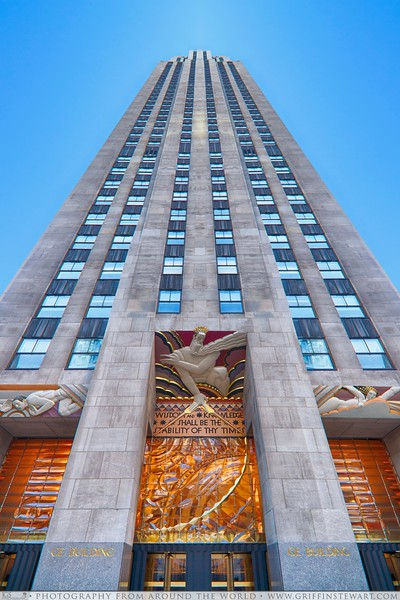 Entrance To Rockefeller Center - Beauty Of Symmetry Collection